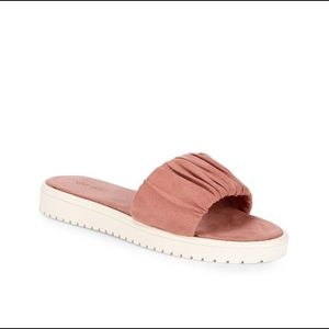 Dusty Rose Nine West Slides